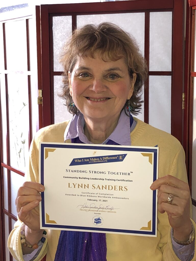 Lynn becomes a certified Blue Ribbon Ambassador in 2020